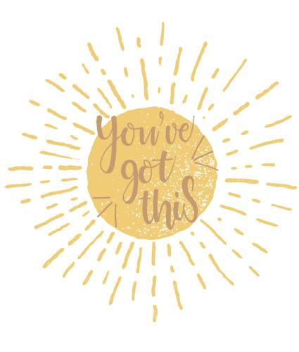 Sunburst You've Got This Greetings Card