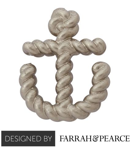 Silver Anchor Pin Badge