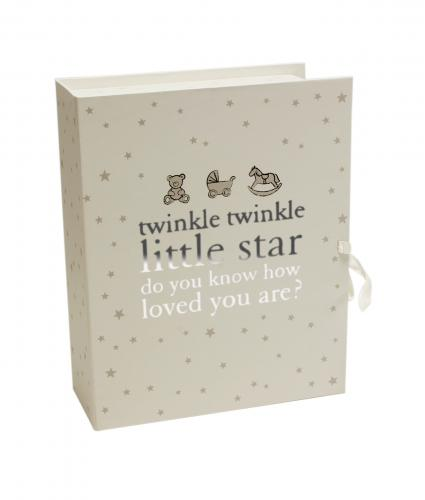 Twinkle Twinkle Keepsake Box with Drawers, Baby Gift, Cancer Research UK