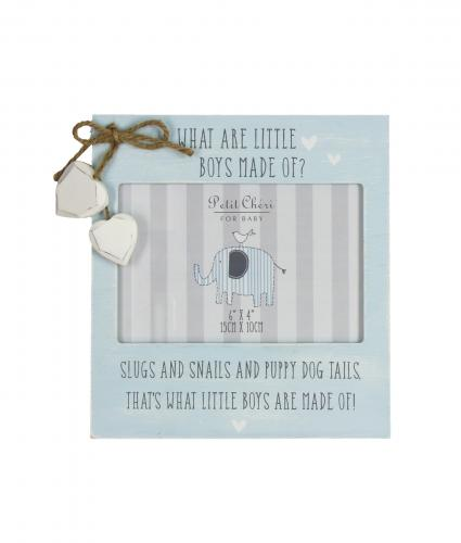 What Are Little Boys Made Off Frame, Baby Gift, Cancer Research UK