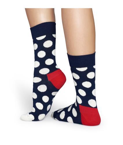 Happy Socks Big Dot Navy & White Socks