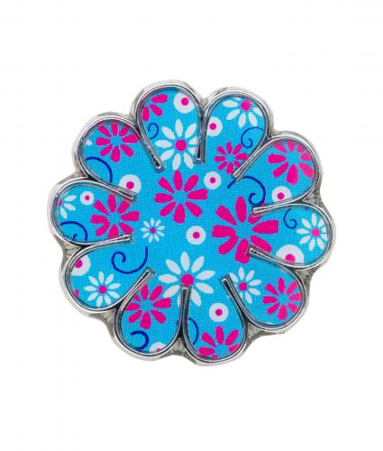 Flower Pin Badge, Cancer Research UK