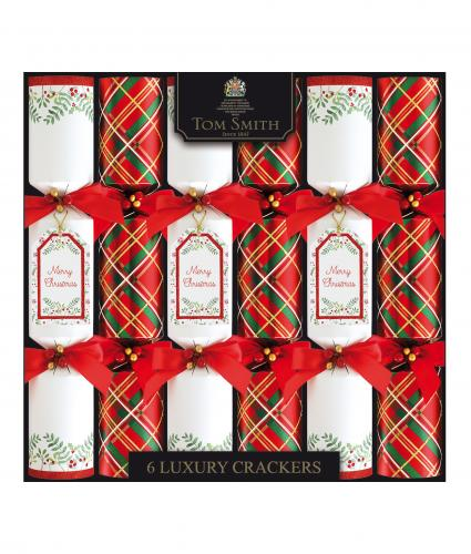 Luxury Tom Smith Crackers, Pack of 6