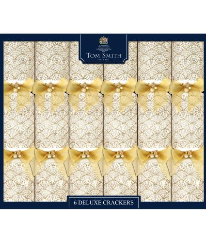 Tom Smith 6 Gold & Cream Deluxe Christmas Crackers