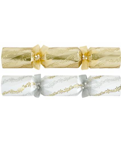 Tom Smith 6 Gold & Cream Luxury Christmas Crackers