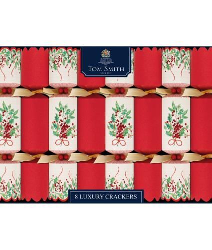 Tom Smith 8 Traditional Holly Christmas Crackers