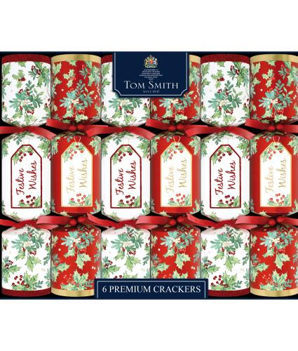 Tom Smith 6 Traditional Foliage Premium Christmas Crackers