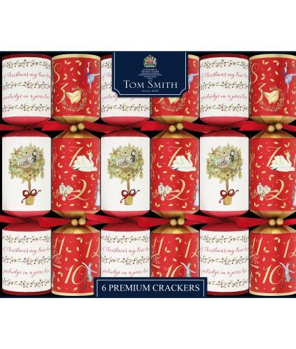Tom Smith 6 12 Days of Christmas Premium Christmas Crackers