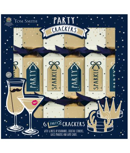 Tom Smith 6 Party Christmas Crackers