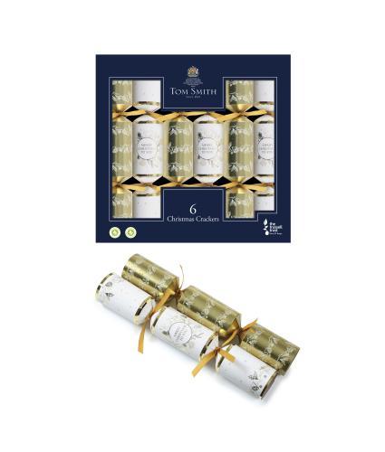 Tom Smith 6 Gold & Cream Christmas Crackers