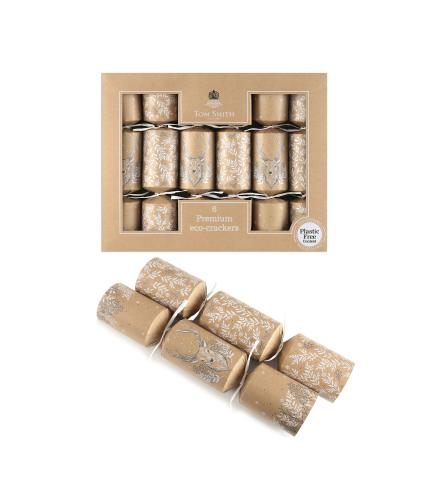 Tom Smith 6 Recyclable, Plastic Free Christmas Crackers