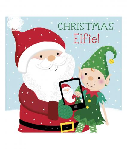 elfie cancer research uk christmas card