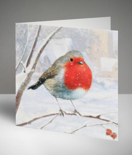 Robin Christmas Cards, Pack of 10