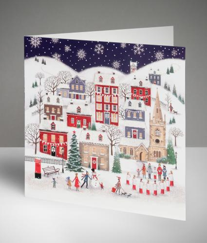 Winter Village Christmas Cards, Pack of 10