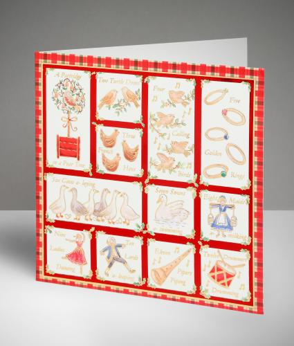 12 Days of Christmas Cards, Pack of 20