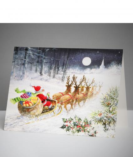 Packed Up And Ready To Go Christmas Cards, Pack of 20