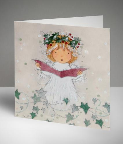 Singing Angel Christmas Cards, Pack of 10