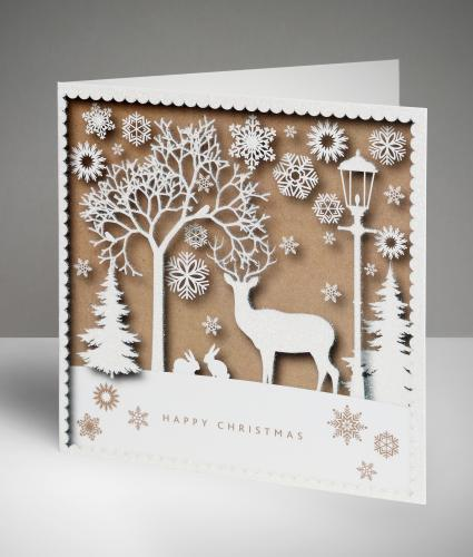 Stag Silhouette Christmas Cards, Pack of 20