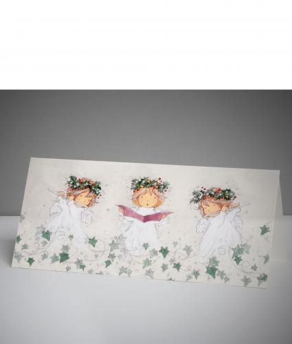 Three Little Angels Christmas Cards, Pack of 10