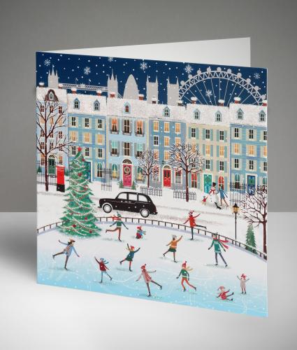 City Scene in Winter Christmas Cards, Pack of 20