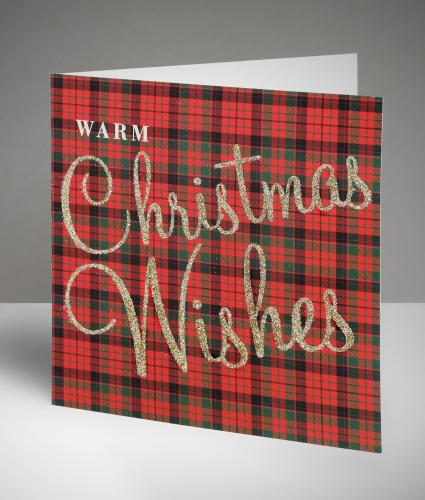 Terrific Tartan Christmas Cards, Pack of 10