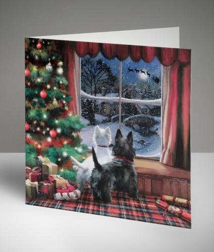 Waiting For Santa Christmas Cards, Pack of 10