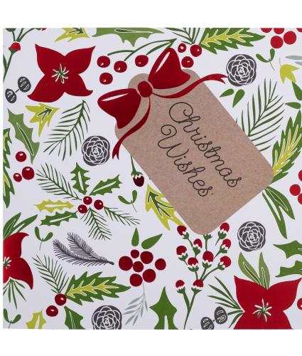 Wonderfully Festive Foliage Christmas Cards - Pack of 10