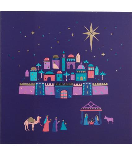 Blue Bethlehem Christmas Cards - Pack of 20