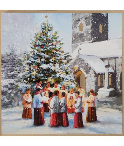 A Choir And Tree Christmas Cards - Pack of 20