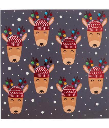 Mini Reindeer Christmas Cards - Pack of 20