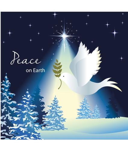 Peace On Earth Dove Christmas Cards - Pack of 20