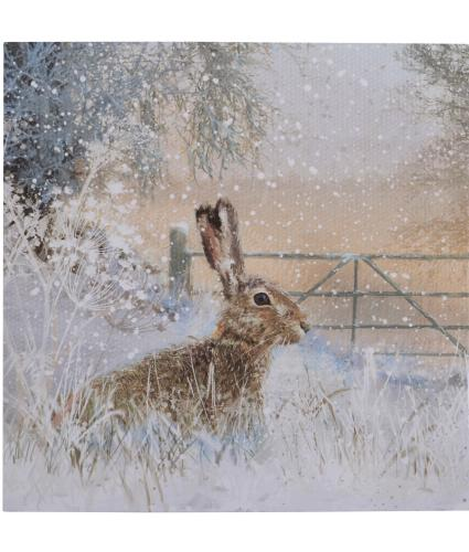 Winter Hare Christmas Cards - Pack of 20