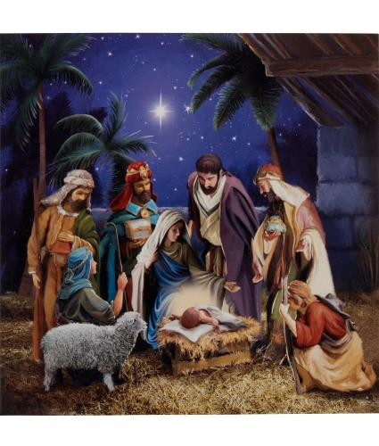 Winter Nativity Christmas Cards - Pack of 20