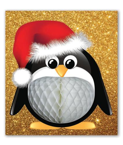 Pulp Pop Up Penguin Christmas Card