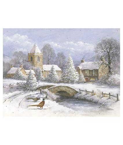 Picture Perfect Village in Winter Christmas Cards - Pack of 10