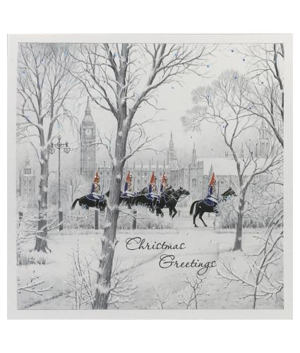 Horses In The Park Christmas Cards - Pack of 10