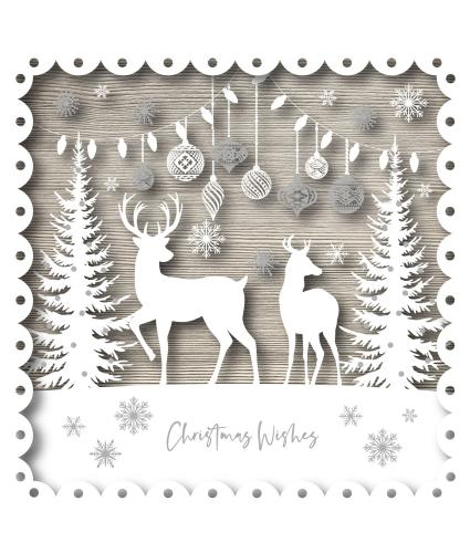 Christmas Deer Christmas Cards - Pack of 20