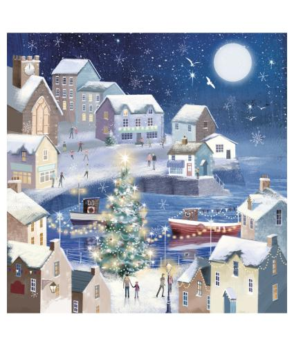 Winter Seaside Christmas Cards - Pack of 20