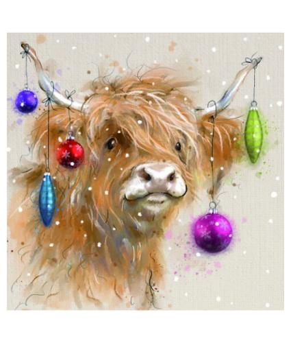 Hamish Adorned Christmas Cards - Pack of 10