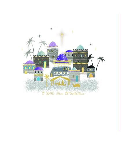 Pastel Bethlehem Christmas Cards - Pack of 10
