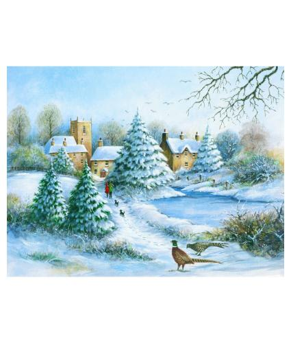 Boxing Day Walk Christmas Cards - Pack of 20
