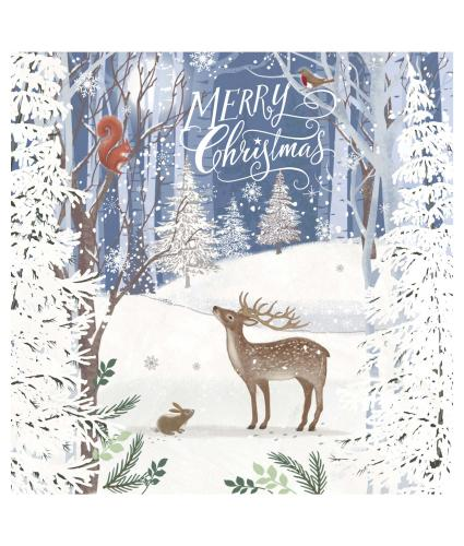 Christmas in the Forest Christmas Cards - Pack of 20
