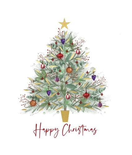 Shimmer Tree Christmas Cards - Pack of 10