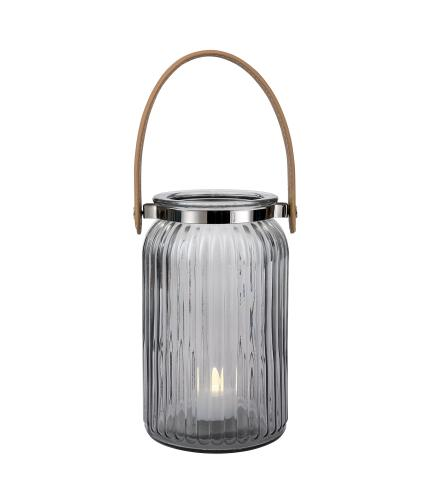 Grey Glass Lantern