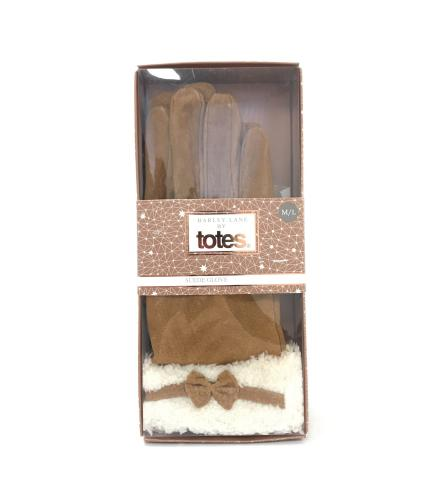 Totes Barley Lane Ladies Suede Gloves M/L