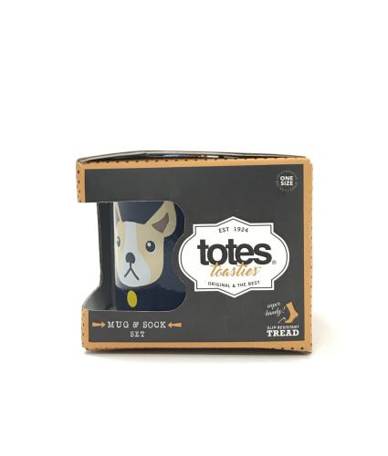 Totes Bulldog Mug & Sock Gift Set
