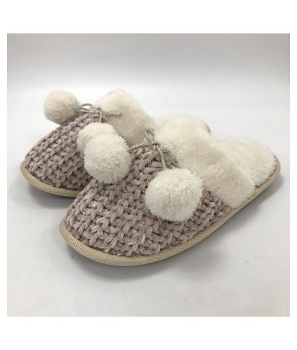 Totes Chenille Ladies Knitted Mule Slippers