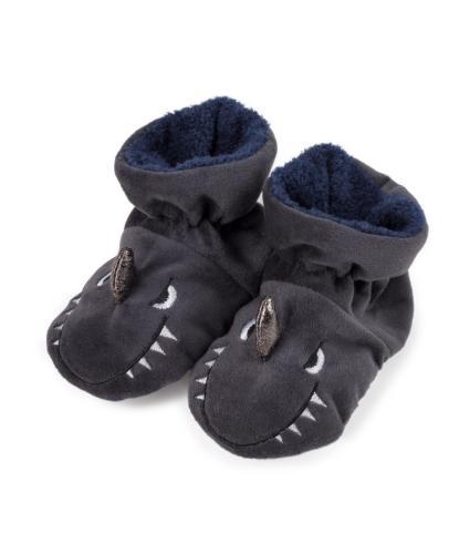 Totes Infants Padders Slippers - Shark