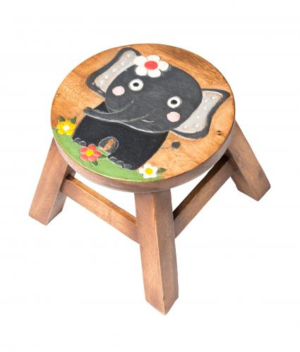 Kids Elephant Wooden Stool