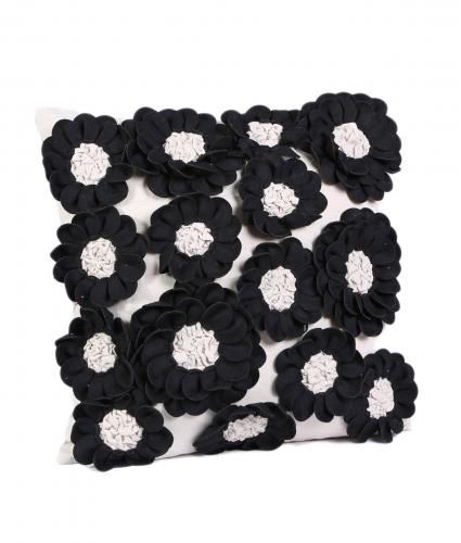 Cancer Research UK, Sadie Monochrome Flower Cushion